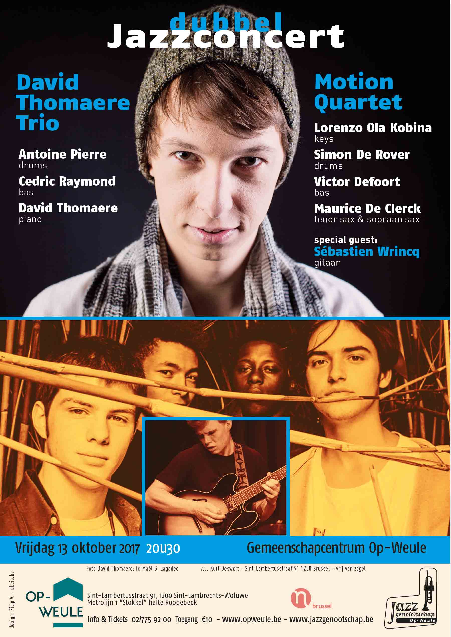 David Thomaere & Motion-quartet - concertflyer